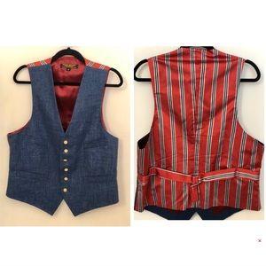 Brooks brother denim suit vest 4th of July medium